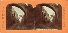 Vue stéréos panoptique : Jerusalem , Via Dolorosa , Arc de Lecce Homo vers 1870