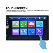7012B 7 Inch HD 1080P Bluetooth 2-DIN MP5 MP3 Player Car FM Radio+Rear Camera US