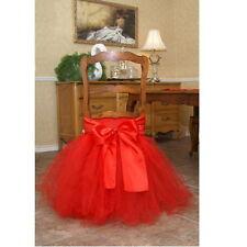 45*35cm Tutu Chair Skirt Wedding Chair Tutu Sash Tutu Cover Party Decoration E