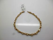 Conjunto de Garra De Oro Amarillo 9ct de tenis pulsera estilo con toda citrino seña de identidad.