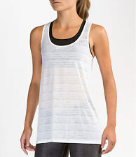 New Nike Women Top Size L (UK 16-18) Touch Breeze Stripe Running Tank/DRIFIT/gym