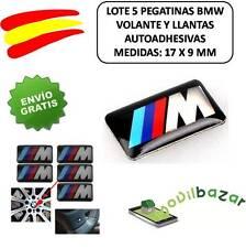 5 X AUTOCOLLANTS 17x9 MM 3D ADHÉSIF BMW M3 M5 M6 LOGO JANTES VOLANT ENSEMBLE LOT