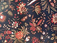 Motif Vintage Wallpaper French Country Floral Black, Rust, and Tan