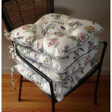 Chair Pads Set 4 Floral Butterfly Kitchen Chair Square Cushions Dinning Colonial