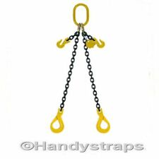 2m x 2 Leg x 7mm Self Locking Hooks Lifting Chain Sling  2.12ton Shortners