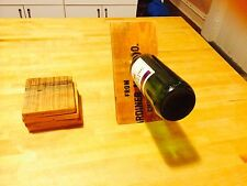 Barn Wood Magic Wine Bottle Holder, and set of 4 barn wood coasters