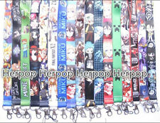 10 Pcs Japanese anime Lanyard For Mobile Phone ID Card Keychain Holder kids gift