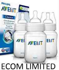 Philips Avent 3 X 260ml Triple Classic Plus+  9oz Bottle Baby anti colic / FREE