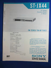 SONY ST-JX44 TUNER SERVICE MANUAL FACTORY ORIGINAL ISSUE