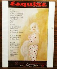 Esquire March 1961 Marilyn Monroe 8 page feature ~ The Misfits Vintage
