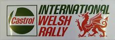 Castrol International Welsh Rally Motorsport Sticker / Decal