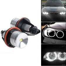 2x 6000K White 5W ANGEL EYES LED HALO Ring Marker Light For BMW E39 E53 E60 E61