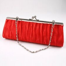 Lady Chic Satin Wedding Bridal Evening Party Clutch Charm Purse Bag Handbag - 6A