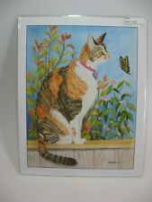 CALICO CAT Drawing Wall Print Picture Art Signed Artist Wendy Beeson 11 x 14 NEW