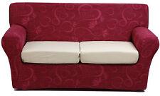 Copridivano 4 posti x divano millerighe copri divano ottoman cuore bordeaux