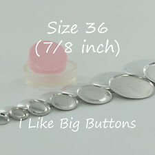 "100 FLAT BACK Size 36 (7/8""/23mm) Cover/Covered Buttons Fabric SELF COVER BUTTON"
