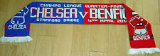 CHELSEA V BENFICA CHAMPS LEAGUE QUARTER FINAL 4/4/12 KNITTED FOOTBALL SCARF NEW