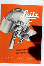 Original Leitz NY Sales Brochure for Leica VALOY I Enlarger -4 pages