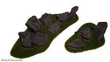 Rural Wargames Terrain - Rocky Outcrops Flames of War,Warhammer 40K,Bolt Action