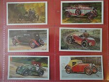 1981 Grandee FAMOUS M.G. MARQUES MG TD MGA cars set 28 cards Tobacco Cigarette