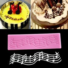 Music Note Lace Silicone Mold Mould Fondant Mat Cake Decorating Baking Tool