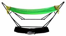 Double Hammock Green With Sturdy Space Saving Steel Stand Includes Portable Bag.