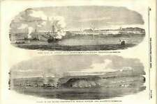 1855 Captain Julius Roberts Firing Mortars Against Sevastopol