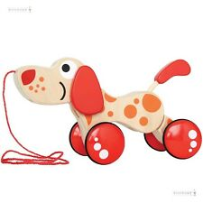 Hape Walk & Pull-A-Long Puppy Wooden Toy, Gift for Toddlers