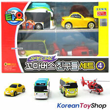 Little Bus TAYO Friends 4 pcs Mini Car Toy Set V.4 Shine Air Kinder Peanut NEW