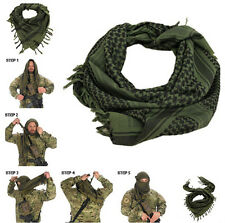Outdoor Sports 100% Cotton SHEMAGH HEADSCARF - Military Keffiyeh Arab Army Wrap