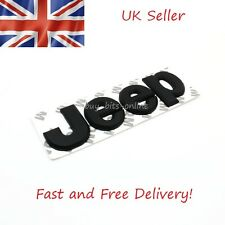 Jeep 3D Metal Matt Black Emblem Lettering Logo Sticker. Jeep Cherokee Renegade