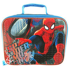 Marvel SPIDER-MAN 2, WITH Padded Handle Lunch Black, Blue & Red mix color bag