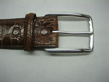 """925 silver solid buckle 30 grams, for 1-3/8"""" = 35 mm belt straps made in U.S.A."""