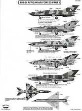 Berna Decals 1/72 MIKOYAN MiG-21 FISHBED Fighter African Air Forces Part 1