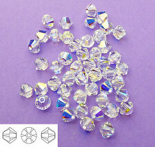 4mm Swarovski 5328 Crystal AB Bicone Xilion Beads 48pcs