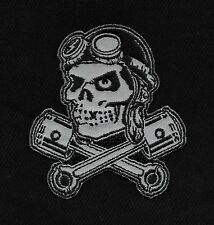SKULL PILOT PISTONS ROCKABILLY HOT ROD PUNK MOTORCYCLE JACKET VEST BIKER PATCH