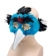Bird Feather & Beak Turquoise Masquerade Mask Accessory for Animal Fancy Dress M