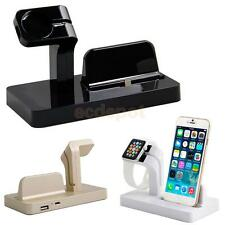 Desktop Charging Dock Stand Station Charger For iPhone Apple Watch Rose Gold