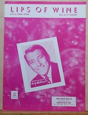 Lips of Wine - 1957 sheet music - Andy Williams photo cover