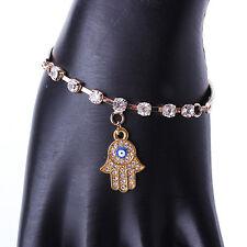 Moda Pulsera De Oro Hamsa Mano Fátima Mal de Ojo Khamsa encanto Brazalete Amuleto