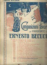 Spartito Preghiera degli Angeli per Pianoforte di Ernesto Becucci Ed. Carisch