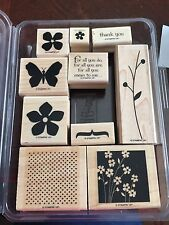 "Stampin Up Retired Wood Mount Stamp Set ""For All You Do"""