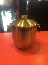 Oggi Stainless Icebucket Barware With Lid And Insert OFC5 Mid Century Modern