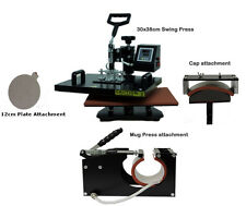 EH721 VINYL PLOTTER CUTTER, OPTICAL EYE WITH 4 IN 1 HEAT PRESS SWING AWAY 30X38