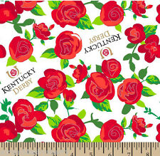 Kentucky Derby Winners Circle Roses Fabric Hair Scrunchie Scrunchies by Sherry