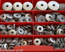 Sortiment 400 Teile Edelstahl EPDM Dichtscheiben 16mm BOX für M5 M6 M8 Schrauben