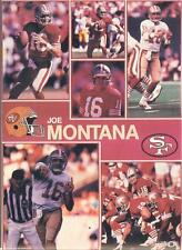1990 Starline JOE MONTANA 49ers Monster Poster MINI Promo Piece RARE