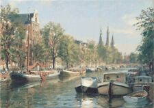 "John Stobart ""AMSTERDAM, The Herengracht"" Hand S/N @EBAY LOWEST! FREE S/H!"