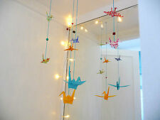 2 Strings of Beautiful Lucky Origami Paper Cranes: Handmade Home Craft
