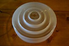 Vintage ribbed Frosted Glass Ceiling mount Light Lamp Shade Cover Globe Art Deco